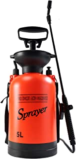 CLICIC Lawn and Garden Portable Sprayer 1.3 Gallon - Pump Pressure Sprayer Includes Shoulder Strap
