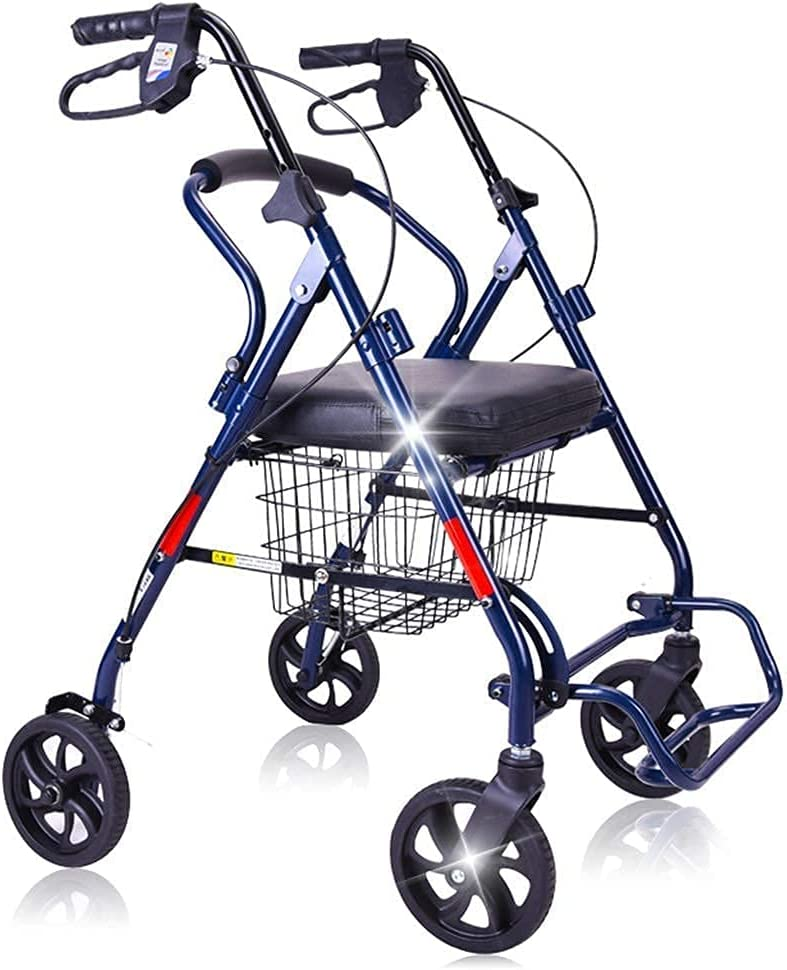 QIQIZHANG Walkers for Seniors Over item handling ☆ Rollator Walker Folding Seat with Arlington Mall