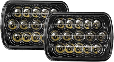 Bear Claw LED BC-7x6-blk Headlight Conversions 15 Chip Sealed Beam to H4 Harness Clear Diamond Cree, Black