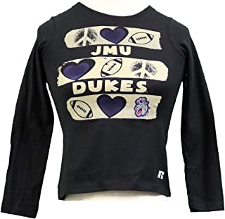 RussellApparel NCAA James Madison University Girls' JMU Dukes Scoop Neck Tee