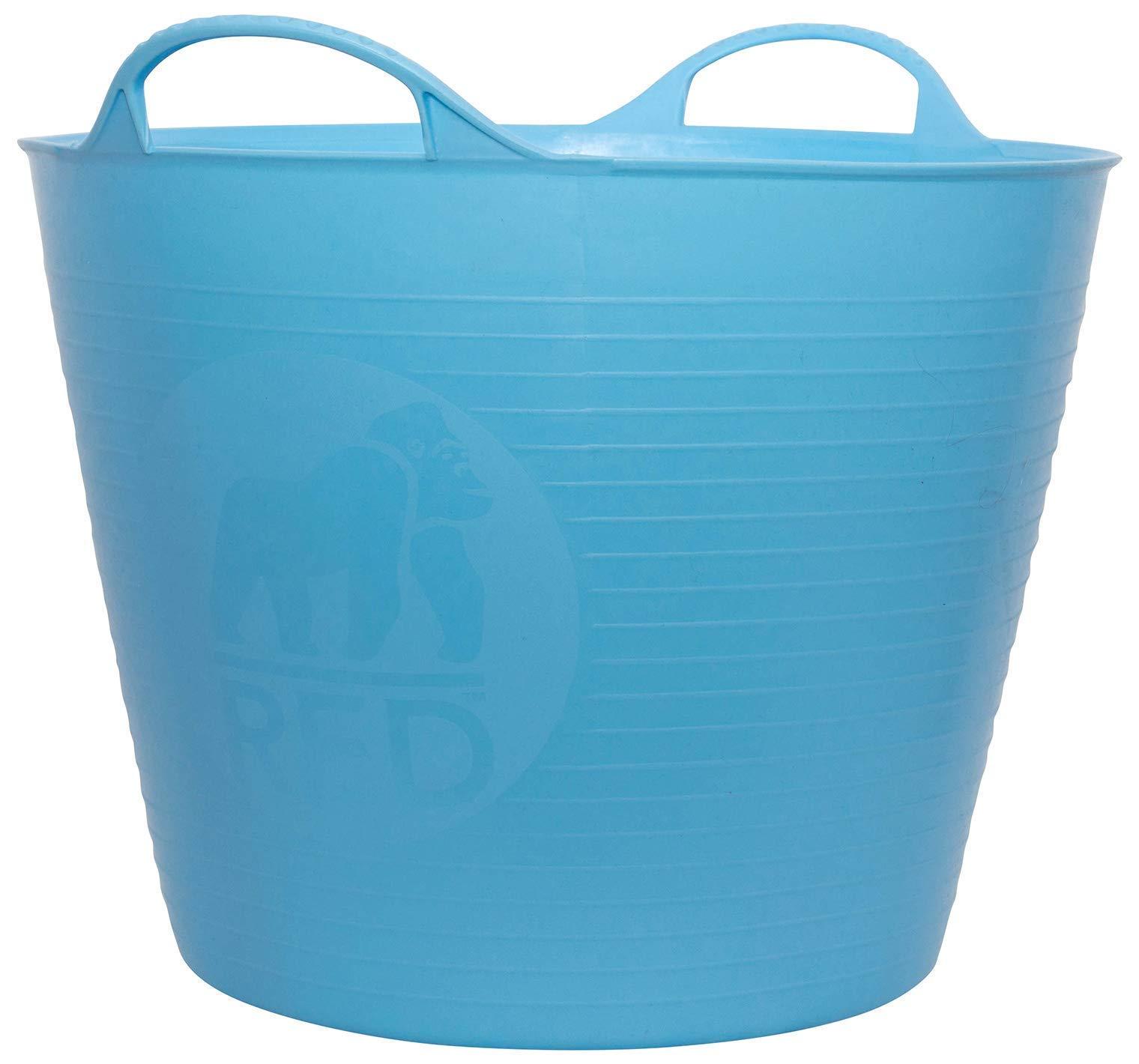Faulks & Cox Unknown Tubtrugs 26L Medium Flexible 2-Handled Recycled Tub, Sky Blue, 26 liters, 6.5 gallon