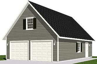 Garage Plans : 2 Car With Loft - 1224-1 - 24' x 34' - two car - By Behm Design