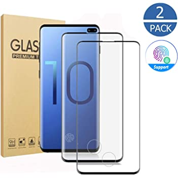3D Full Edge Covered Case Friendly Glass Protector for Samsung Galaxy S10 5G Anti-Dirty 9H Hardness 2 Pack Galaxy S10 5G Screen Protector,Tempered Glass for Galaxy S10 5G