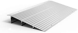Size : 50 27 7CM JNMDLAKO Portable Ramps Mat Green Plastic Uphill Pad Doorway Threshold Ramps Accessible Channel Wheelchair Ramps