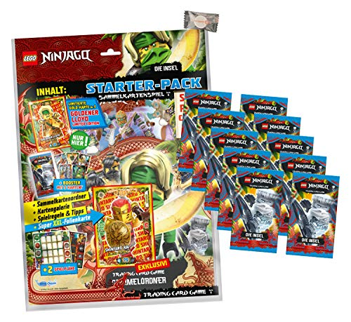 Lego Ninjago Karten Trading Cards Serie 6 - Die Insel (2021) - 1 Starter + 10 Booster + stickermarkt24de Gum