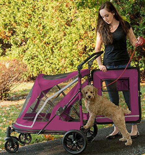 Pet Gear No-Zip Expedition Zipperless Entry Boysenberry Pet Stroller 10