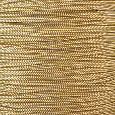 PARACORD PLANET 10, 25, 50, and 100 Foot Hanks of 425 Paracord (3mm) - Made of 100% Nylon for Tactical, Crafting, Survival, General Use, and Much More (Gold, 100 Feet)