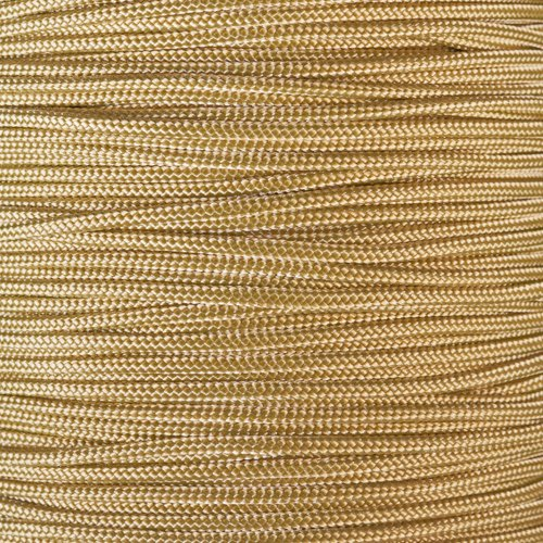 PARACORD PLANET 10 25 50 and 100 Foot Hanks of 425 Paracord 3mm  Made of 100% Nylon for Tactical Crafting Survival General Use and Much More Gold 100 Feet