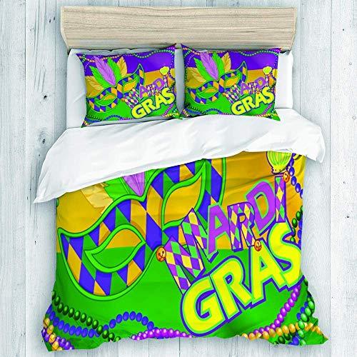 772 bedding duvet cover set,Mardi Gras mask design,New Various Patterns Custom 3 Piece Set,Single size-135 * 200cm