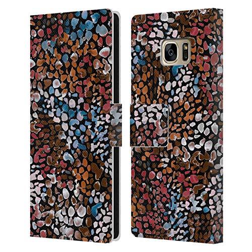 Head Case Designs Licenciado Oficialmente Ninola Acuarela moteada Resumen 2 Carcasa de Cuero Tipo Libro Compatible con Samsung Galaxy S7 Edge