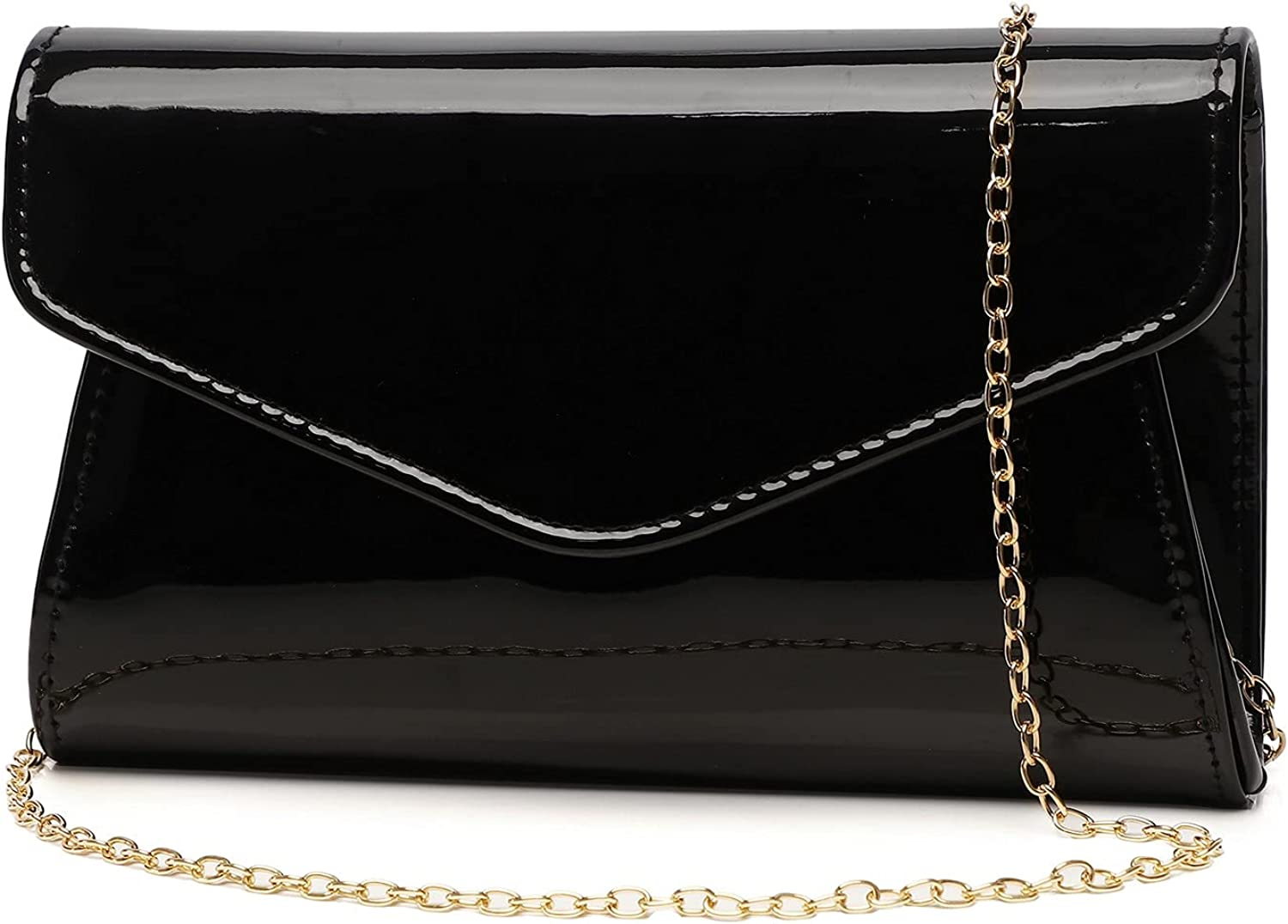 Patent Leather Envelope Clutch Womens Selling and Super-cheap selling Handbag Evening Sh Stylish