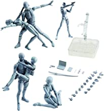 Body Kun DX Set Male& Female Gray Color Body-Chan Action Figure Model Set PVC Figure Model Drawing for SHF S H Figuarts
