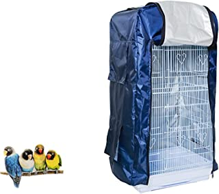 QBLEEV Bird Cage Covers,  Large Birdcage Cover,  Warm Windproof Waterproof Shell Shield for Square Cage Crate
