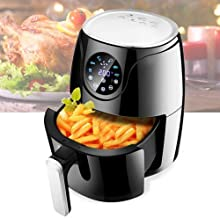 Air Fryers for Home Use 2.6L Air Fryer 1300W with Digital DisplayTimer and Fully Adjustable Temperature Control for Health...