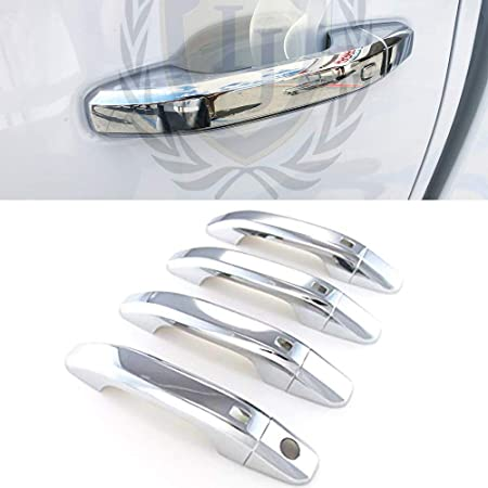 EAG Triple Chrome Plated ABS Tailgate handle Cover with Camera Hole Fit Fit for 09-14 Chevy Traverse