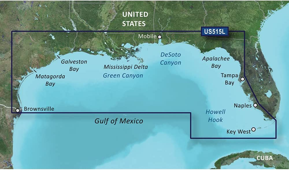 Garmin VUS515L Brownsville-Key Largo SD Card Nautical Charts