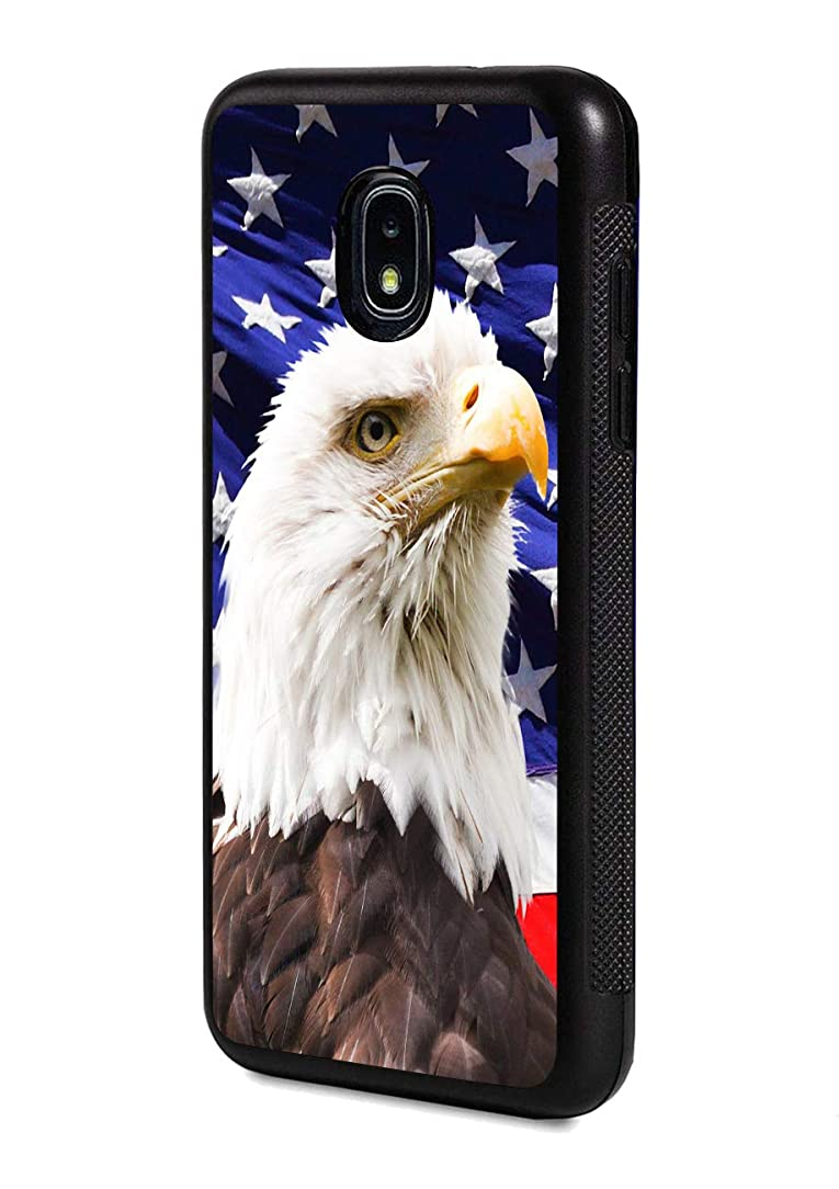 Galaxy J7 (2018) Case,Patriotic Bald Eagle American Flag Design Slim Impact Resistant Rubber Protective Case Cover for Samsung Galaxy J7 (2018)