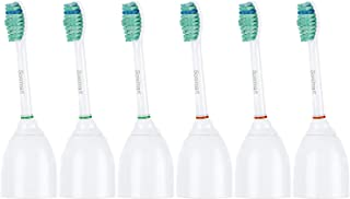 Sonimart Standard Replacement Toothbrush Heads Compatible with Sonicare e-Series HX7022, 6 Pack Standard, fits Sonicare Advance, CleanCare, Elite, Essence and Xtreme Sonicare Brush Handles