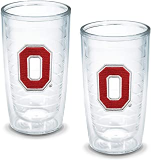 Tervis 1007831 Central Michigan Chippewas Logo Tumbler with Emblem 4 Pack 12oz, Clear
