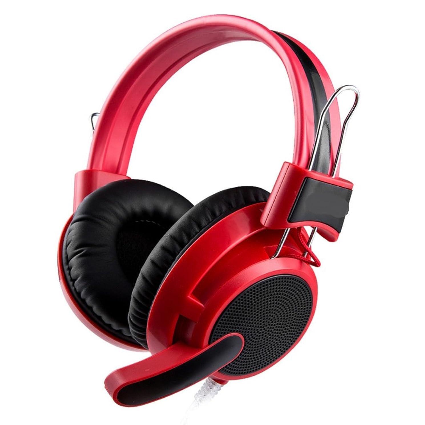 小数保持詩コンピュータヘッドセットヘッドゲーム用ヘッドセット音声マイクを使ってheadset-red