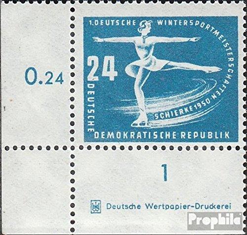 DDR mer.-no.: 247DZ avec Marque d´Impression 1950 Premier championnats de Sports d'hiver de (Timbres pour Les collectionneurs) Sports d'hiver