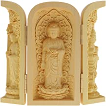 sharprepublic Buddhism Statues Kwan-Yin Statue Statute of God Carved 3 Wood for Collector - Style-4, as described