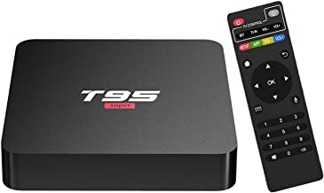 Android 10.0 TV Box,T95 Super Android Box 2GB Ram 16GB Rom Quad-Core Allwinner H3 Support WiFi 2.4GHz 3D 4K Media Player S...