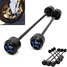Black Front+Rear Motorcycle Front Rear Wheel Axle Fork Sliders Crash Protector For Yamaha MT-09 Tracer 900 2014-2020 FZ-09 Falling Protection Guard Pads Motorbike Accessories 1 Pair 2 pcs