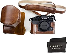 kinokoo Fujifilm PU Leather Camera Case,Fullbody Case Cover for Fujifilm XT30 XT20 XT10 with 16-50mm and 18-55mm Lens -Coffee