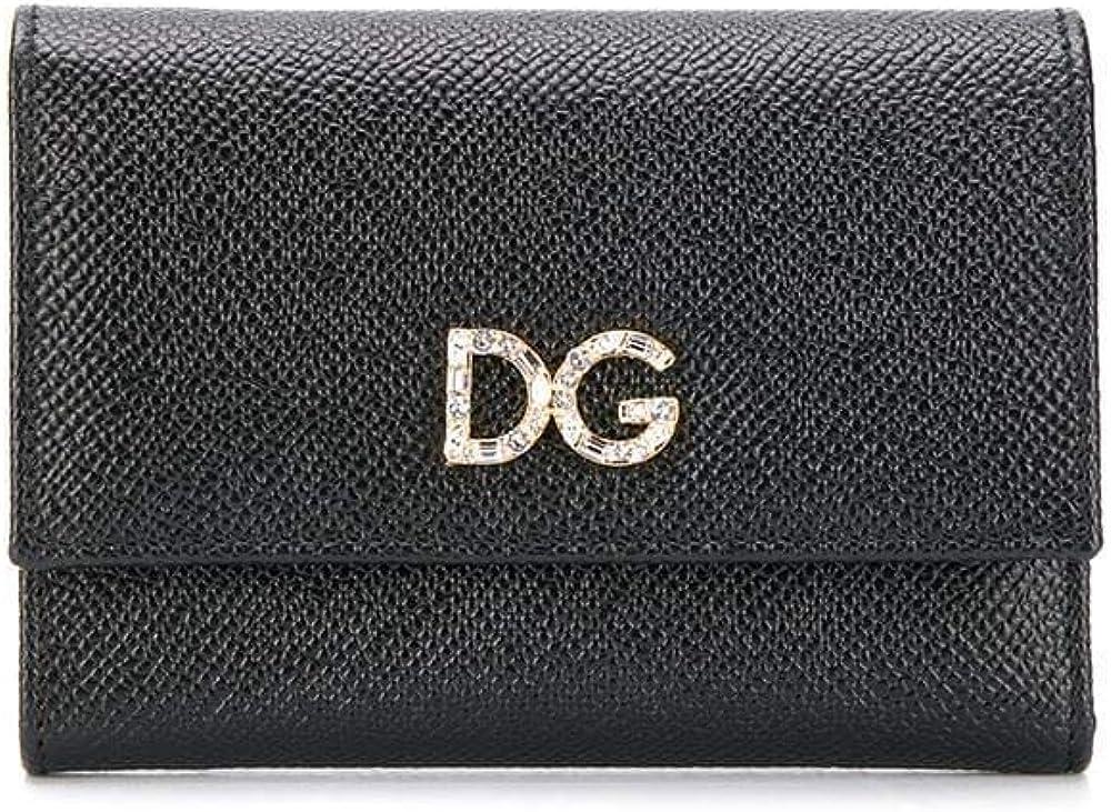 dolce & gabbana luxury fashion,portafoglio per donna,in vera pelle al 100 % bi0924au77180999