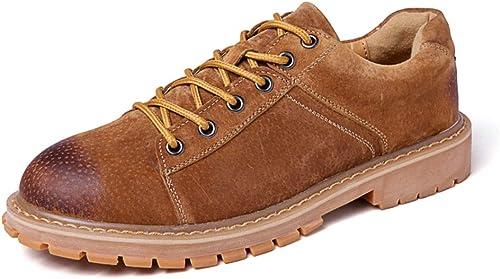 XIANGBAO-Personality Richelieus Perfunctory Rode Toe Chaussures de de de Travail résistantes à l'usure (Couleur   Marron, Taille   43 EU) f10