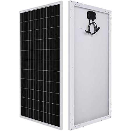 Renogy 100 Watt 12 Volt Monocrystalline Solar Panel, Compact Design 42.4 X 20.0 X 1.38 in, High Efficiency Module PV Power for Battery Charging Boat, Caravan, RV and Any Other Off Grid Applications