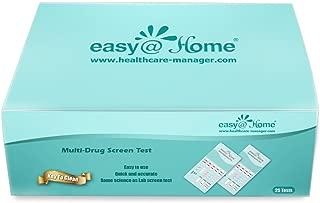25 Pack Easy@Home 10 Panel Instant Drug Test Kits - Testing Marijuana (THC), Opiate(OPI 2000), Cocaine(COC), AMP, BAR, BZO, MDMA, MET, MTD, PCP - Urine Dip Drug Testing -#EDOAP-3104