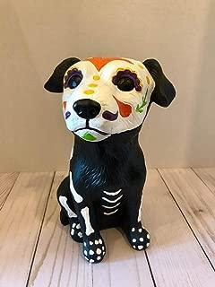 hru Sugar Skull Day of The Dead Dog Hand Painted Skeleton Halloween Polyresin Figurines Dia De Los Muertos