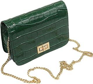 Women Messenger Bags Fashion Serpentine Hasp Shoulder Cross Body Handbag (CBS009)