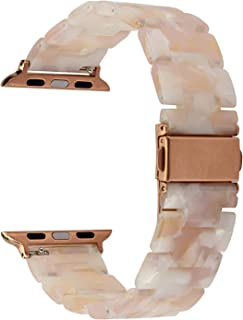 MAIRUI Compatible with Apple Watch Band Series 4/5 Slim Resin Bracelet Wristband Lightweight Strap Replacement for iWatch ...