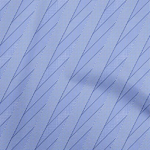 oneOone Cotton Silk Medium Blue Fabric Abstract Texture Sewing Material Print Fabric by The Yard 42 Inch Wide-D4