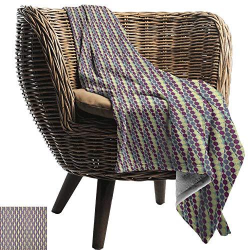 ZSUO picknickdeken waterdicht Retro, 3D-stijl kubussen Vierkanten Patroon Geometrische Oude Fashioned Abstract Futuristische, Blauw Lichtblauw Wit Cozy en Duurzaam Stof-Machine Wasbaar