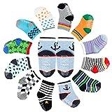 FUTURE FOUNDER 12er-pack Baby ABS Socken, Anti Rutsch Socken für 12-36 Monate Baby Mädchen & jungen