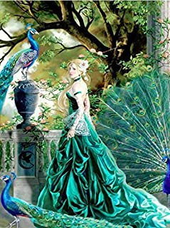 5D DIY Diamond Painting Fipart Creative Mode Crystal Paint Cube Diamond Embroidery Home Decoration,peacock(12X18inch/30X45CM)