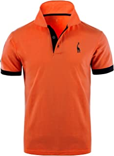 GLESTORE Mens Polo Shirts Giraffe MT1030 Golf Tennis T-Shirt