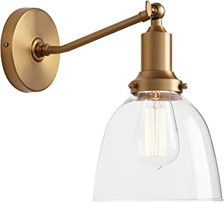 Permo Industrial Vintage Slope Pole Wall Mount Single Sconce with 6.7
