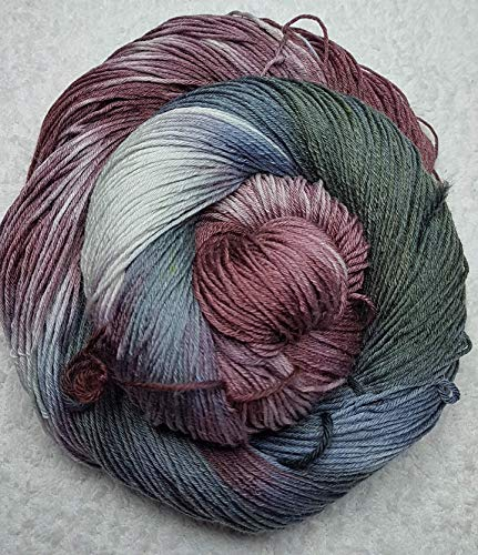 Handgefärbte Merino/Seiden-Wolle, Merinowolle, Maulbeerseide, handgefärbt, Set,...