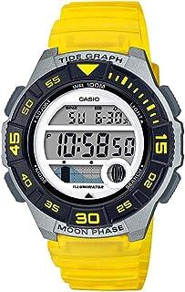 Casio Women's 10 Year Battery Quartz Resin Strap, Yellow, 19.9 Casual Watch (Model: LWS-1100H-9AVCF)