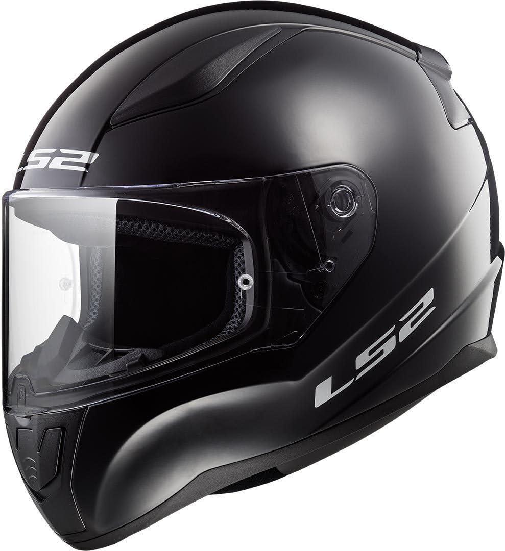 LS2 Casco Moto Full Face FF353 RAPID MINI Unisex Bambini,Nero Lucido,L