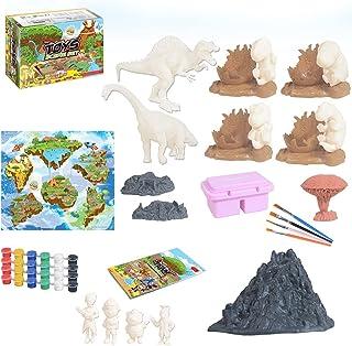 مجموعة أدوات عمل الديناصورات من Licogel لتقوم بها بنفسك لتعليم الديكور والتعلم التفاعلي مجموعة ألعاب الديناصورات المضحكة م...