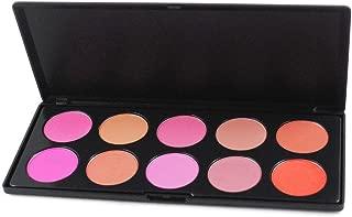 Pure Vie Professional 10 Colors Cream Blush / Blusher Powder Makeup Palette Contouring Kit