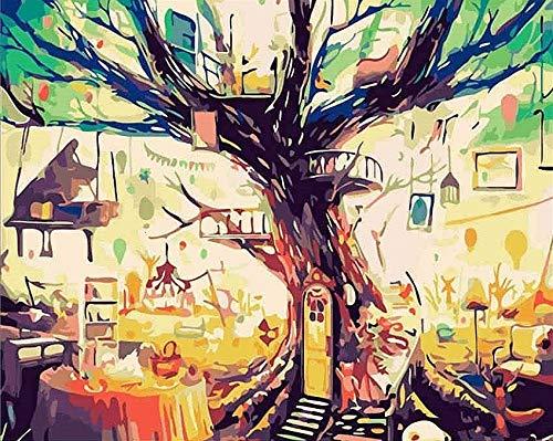 Kits de pintura de bricolaje por números girasoles abstracto moderno cuadro de arte de pared para el hogar pintura de flores por números A21 40x50cm