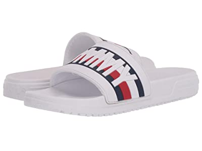 Tommy Hilfiger Kids Geo GS Slide (Little Kid/Big Kid) (White Molded) Kid