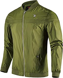 Gopune Men's Slim Fit Lightweight Softshell Outdoor Flight Bomber Jacket Coat